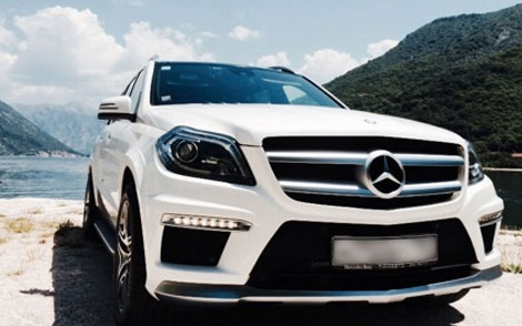 Mercedes GL x166 white